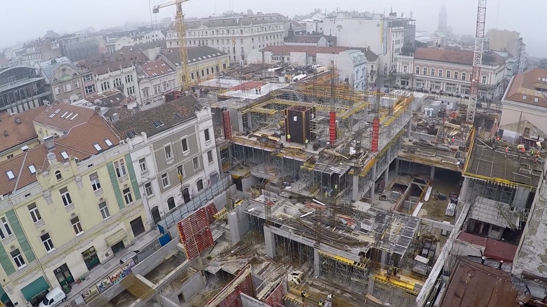 Betoniranje tržnog centra u Rajićevoj